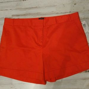 Shorts Womens Orange Contemporary Fit Size 18